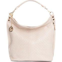 Torebki klasyczne damskie: Skórzana torebka w kolorze jasnoróżowym – 40 x 40 x 14 cm