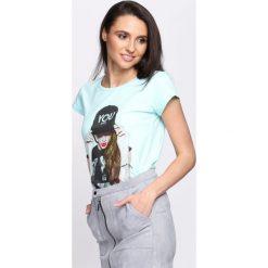T-shirty damskie: Miętowy T-shirt Too Many Notes