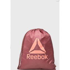 Reebok - Plecak. Szare plecaki damskie marki Reebok, l, z dzianiny, z okrągłym kołnierzem. Za 49,90 zł.