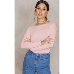 Swetry klasyczne damskie: Samsoe & Samsoe Sweter z okrągłym dekoltem Kally – Pink