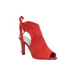 Sandały Sergio Leone  Czerwone sandały na obcasie z kokardą  1493. Czarne sandały damskie marki Sergio Leone. Za 108,99 zł.