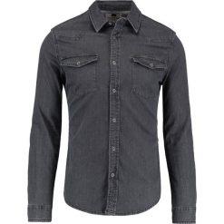 Koszule męskie na spinki: Topman WESTERN MUSCLE FIT Koszula washed black