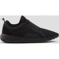 Buty męskie: Czarne buty sportowe z gumką