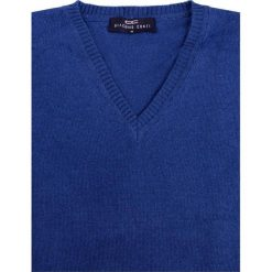 Sweter FABRIZIO SWNR000107. Niebieskie swetry klasyczne męskie marki Giacomo Conti, m, z tkaniny, klasyczne. Za 229,00 zł.