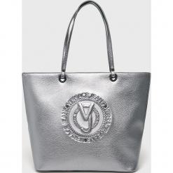 Versace Jeans - Torebka. Szare torebki klasyczne damskie marki Versace Jeans, z jeansu, duże. Za 519,90 zł.