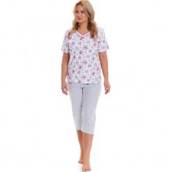 Piżama w kolorze biało-szarym - t-shirt, spodnie. Białe piżamy damskie Doctor Nap, l. W wyprzedaży za 82,95 zł.