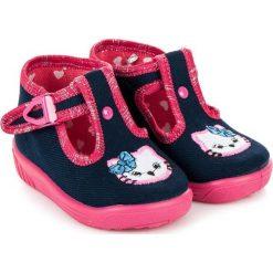 Buciki niemowlęce chłopięce: RAWEKS Granatowe buciki kitty MELODY