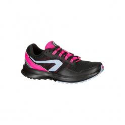 Buty do biegania RUN ACTIVE GRIP damskie. Czarne buty do biegania damskie KALENJI, z gumy. W wyprzedaży za 99,99 zł.
