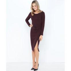 Sukienki: Sukienka ołówkowa z długim rozcięciem