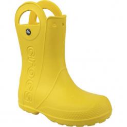 Buty dziecięce Handle Rain Boot żółte r. 32-33 (12803). Czerwone buciki niemowlęce marki Crocs, z materiału. Za 108,26 zł.
