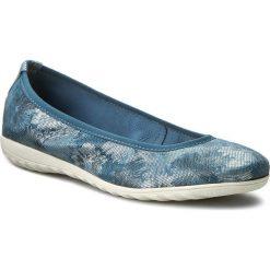 Baleriny CAPRICE - 9-22142-28 Ocean Komb 880. Niebieskie baleriny damskie marki Caprice, z nubiku. W wyprzedaży za 179,00 zł.