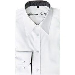 Koszula ENRICO slim 14-10-10. Białe koszule męskie na spinki marki bonprix, z klasycznym kołnierzykiem. Za 199,00 zł.