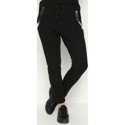Spodnie dresowe damskie: Czarne Spodnie Dresowe Goldroom