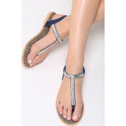 Sandały damskie: Granatowe Sandały Try Tonight