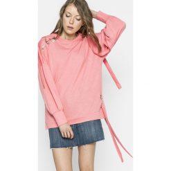 Only - Bluza. Różowe bluzy damskie ONLY, l, z bawełny, bez kaptura. W wyprzedaży za 69,90 zł.