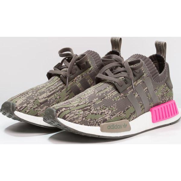 adidas Originals NMD_R1 PK Tenisówki i Trampki utility greyshock pink