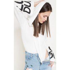 Missguided by Jourdan Dunn - Bluza. Szare bluzy z nadrukiem damskie marki Missguided, z elastanu, z długim rękawem, długie. W wyprzedaży za 59,90 zł.