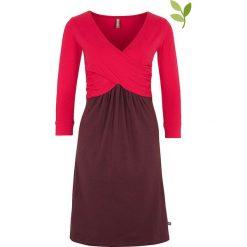 """Sukienki hiszpanki: Sukienka """"Jeanie"""" w kolorze różowo-fioletowym"""