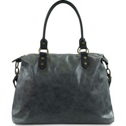 """Torebki klasyczne damskie: Skórzana torba """"Karine"""" w kolorze szarym – 43 x 34 x 13 cm"""