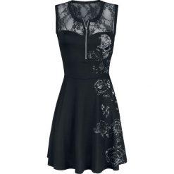 Outer Vision Lilly Fallen Lace Logo Sukienka czarny. Czarne sukienki koronkowe marki Outer Vision, na imprezę, xl, w ażurowe wzory, z dekoltem na plecach. Za 199,90 zł.