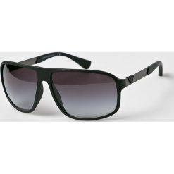 Emporio Armani - Okulary EA4029. Szare okulary przeciwsłoneczne męskie Emporio Armani, z materiału, prostokątne. Za 699,90 zł.
