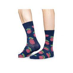 Skarpetki Happy Socks  PIN01-6000. Czerwone skarpetki męskie Happy Socks, z bawełny. Za 24,43 zł.