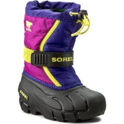 Kozaki dziewczęce: Śniegowce SOREL – Childrens Flurry NC1885 Grape Juice/Bright Plum 484