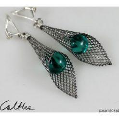 Biżuteria i zegarki: Wodna zieleń w rożku – klipsy