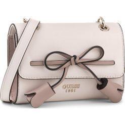 Torebka GUESS - Leila (VG) Mini-Bag HWVG69 64780 SHM. Brązowe listonoszki damskie marki Guess, z aplikacjami. W wyprzedaży za 259,00 zł.