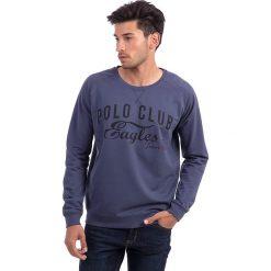 Bejsbolówki męskie: Bluza w kolorze niebieskim