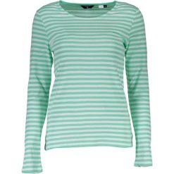 Bluzki damskie: Bluzka w kolorze biało-zielonym