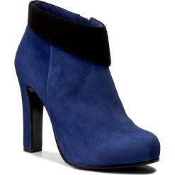 Botki BALDOWSKI - W00148-2955-004 Zamsz Niebieski/Czarny. Niebieskie buty zimowe damskie marki Baldowski, ze skóry, na obcasie. W wyprzedaży za 329,00 zł.