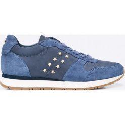 Tommy Hilfiger - Buty. Czarne buty sportowe damskie marki TOMMY HILFIGER, z materiału, z okrągłym noskiem, na obcasie. W wyprzedaży za 379,90 zł.