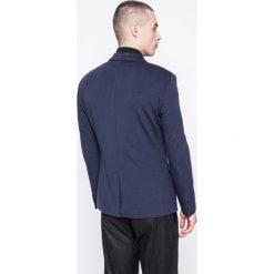 Guess Jeans - Marynarka. Szare marynarki męskie slim fit marki Guess Jeans, l, z aplikacjami, z bawełny. W wyprzedaży za 399,90 zł.