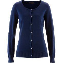 Sweter rozpinany bonprix ciemnoniebieski. Niebieskie swetry rozpinane damskie bonprix. Za 69,99 zł.
