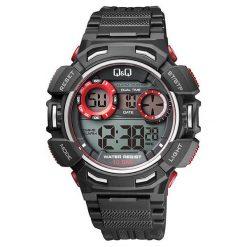 Biżuteria i zegarki męskie: Zegarek Q&Q Męski M148-002 Dual Time czarny
