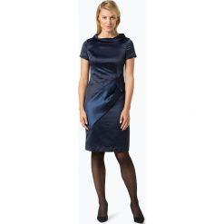 Apart - Sukienka damska, niebieski. Niebieskie sukienki z falbanami marki Apart, z satyny, z kontrastowym kołnierzykiem, proste. Za 449,95 zł.