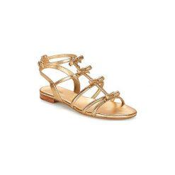 Sandały MICHAEL Michael Kors  VERONICA FLAT SANDAL. Czarne sandały damskie marki MICHAEL Michael Kors, z gumy, przed kolano, na wysokim obcasie. Za 699,00 zł.