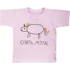T-shirty damskie: Death Metal Unicorn Koszulka dziecięca jasnoróżowy (Light Pink)