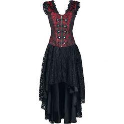 Burleska Gypsy Dress Sukienka czarny/czerwony. Czerwone długie sukienki marki Mohito, l, z materiału, z falbankami. Za 489,90 zł.