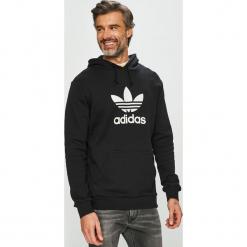 Adidas Originals - Bluza. Czarne bluzy męskie rozpinane adidas Originals, l, z nadrukiem, z bawełny, z kapturem. Za 279,90 zł.