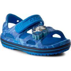 Sandały CROCS - Crocband II Led Sandal 204106 Cerulean Blue/Navy. Niebieskie sandały chłopięce marki Crocs, z tworzywa sztucznego, na rzepy. W wyprzedaży za 149,00 zł.