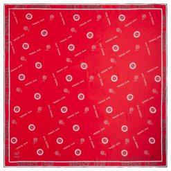 Chusty damskie: Versace 19.69 Chusta Damska Empire 1969, Czerwony