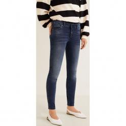 Mango - Jeansy push-up Uptown. Niebieskie jeansy damskie rurki Mango. Za 129,90 zł.