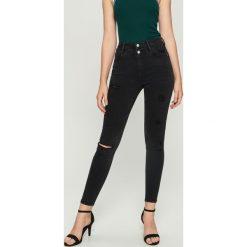 Jeansy skinny z wysokim stanem - Czarny. Czarne jeansy damskie skinny marki Sinsay, z jeansu, z podwyższonym stanem. Za 89,99 zł.