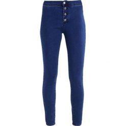 Lost Ink MID RISE  Jeans Skinny Fit dark denim. Niebieskie rurki damskie Lost Ink. Za 149,00 zł.
