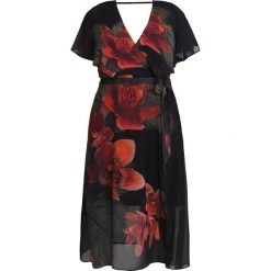 Długie sukienki: City Chic TROPICAL FLORAL Długa sukienka black