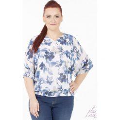 Bluzki asymetryczne: Romantyczna bluzka na wiosnę Plus