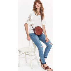 SPODNIE JEANSY RURKI. Szare jeansy damskie rurki Top Secret, na jesień, z jeansu. Za 64,99 zł.