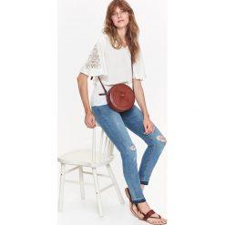 Spodnie damskie: SPODNIE JEANSY RURKI